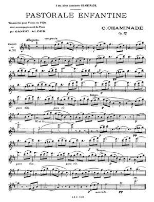 Sheet Music Pastorale enfantine