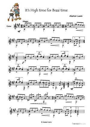Sheet Music It's High time for Braai time