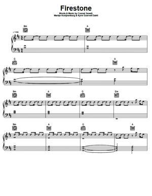 Sheet Music Kygo - Firestone