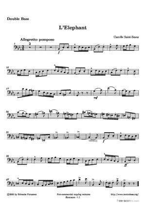Sheet Music L'Elephant