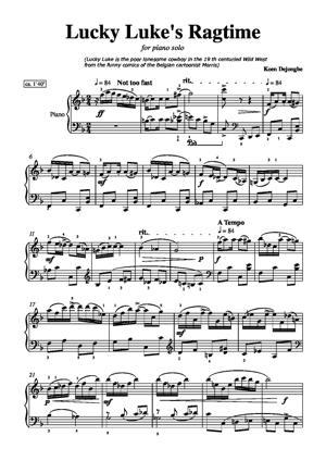 Sheet Music Lucky Luke's Ragtime