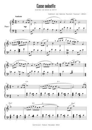 Sheet Music Casse noisette / Piano solo
