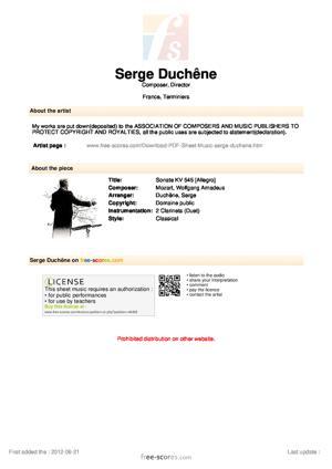 Sheet Music Sonate KV 545