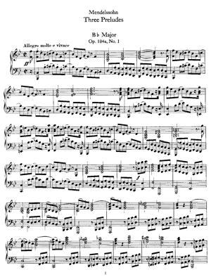Sheet Music 3 Préludes