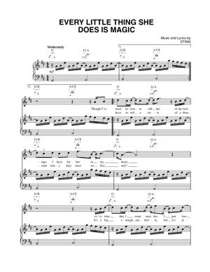 Sheet Music The Police - Every Little Thing She Does Is Magic