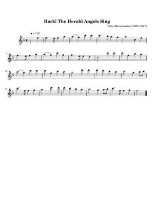 Sheet Music Felix Mendelssohn - Hark The Herald Angels Sing