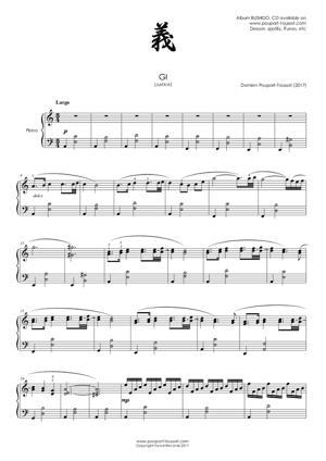 Sheet Music GI (Justice)