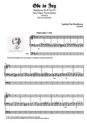 Sheet Music Ode to Joy - Organ transcription