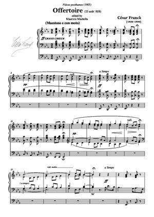 Sheet Music Offertoire en Mib (Op. posthume)
