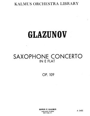 Sheet Music Saxophone Alto Concerto and Strings in E b - Op. 109