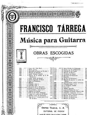 Sheet Music Recuerdos de la Alhambra