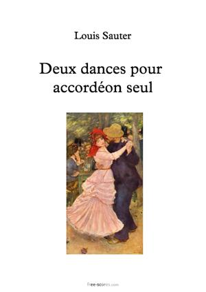Sheet Music Two Dances for solo accordion