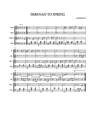 Sheet Music 3.spring at Bosphorus