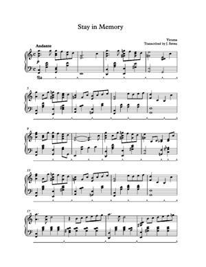 Sheet Music Yiruma - Stay In Memory