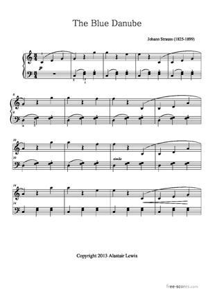 Sheet Music Johann Strauss II - The Blue Danube