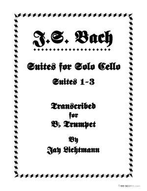 Sheet Music Suites For Solo Cello - Suites 1-3