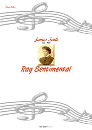 Sheet Music Rag Sentimental