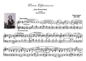Sheet Music Petit Offertoire pour Harmonium (ou Orgue man.)