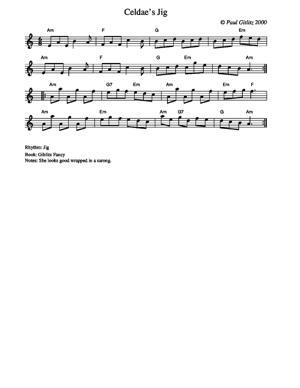 Sheet Music Celdae's Jig