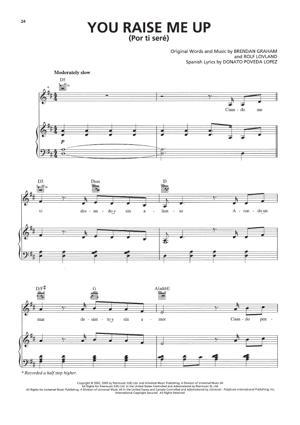 Sheet Music Il Divo - You Raise Me Up