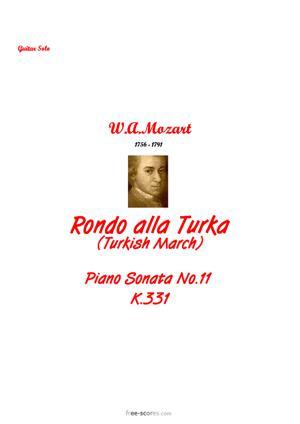 Sheet Music Wolfgang Amadeus Mozart - Rondo alla Turka