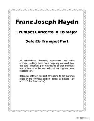 Sheet Music Trumpet Concerto