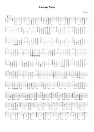 Sheet Music Valsa Sem Nome