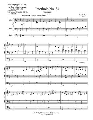 Sheet Music Interlude No 84