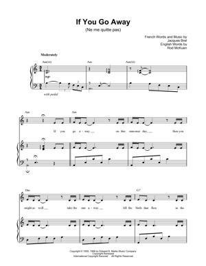 Sheet Music Barbra Streisand - Ne Me Quitte Pas (If You Go Away)
