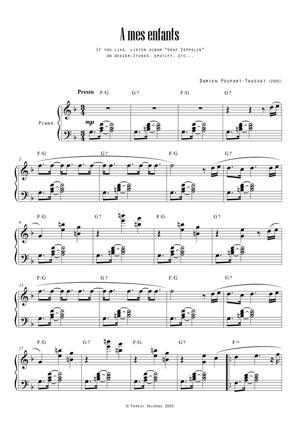 Sheet Music A mes enfants