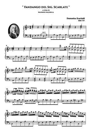 """Sheet Music """"Fandango del Sig. Scarlate"""""""