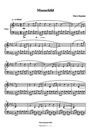 Sheet Music Moonchild