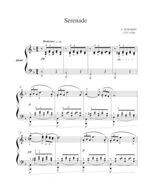Sheet Music Schubert - Serenade