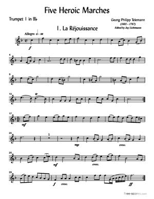 Sheet Music Five Heroic Marches