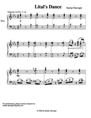Sheet Music Lital's Dance