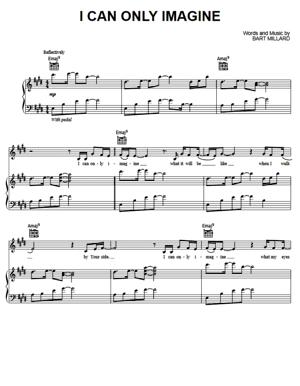 Sheet Music MercyMe - I Can Only Imagine