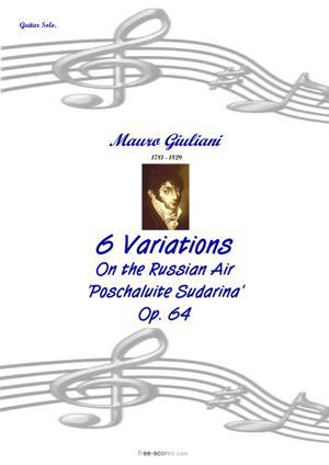 Sheet Music 6 Variations