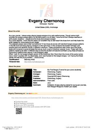 Sheet Music Evgeny Chernonog - My First Boogie
