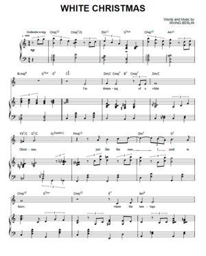 Sheet Music Michael Buble - White Christmas