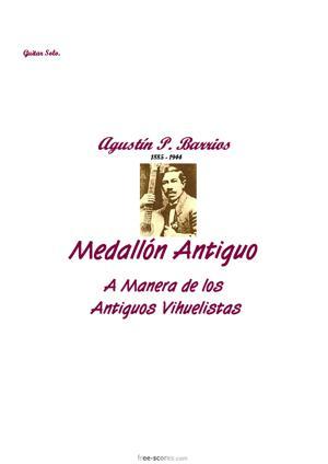 Sheet Music Medallón Antiguo