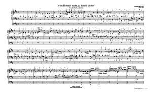 Sheet Music Vom Himmel Hoch