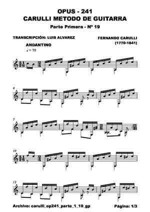 Sheet Music carulli op241 parte 1 19 gp