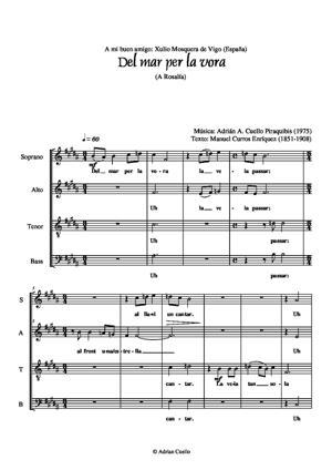 Sheet Music Del mar per la vora