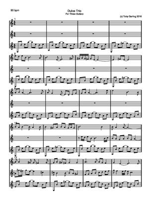 Sheet Music Dulce Trio