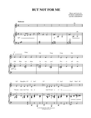 Sheet Music George Gershwin - But Not For Me