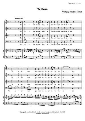Sheet Music Te Deum