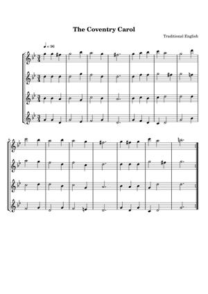 Sheet Music Traditional English - The Coventry Carol
