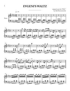 Sheet Music Abel Korzeniowski - Evgeni's Waltz