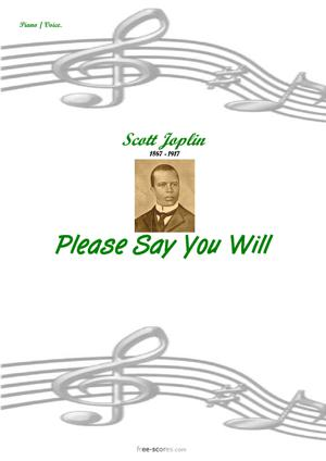 Sheet Music Please say you will