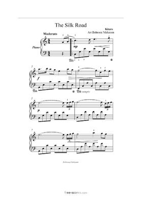 Sheet Music the silk road